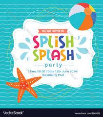 birthday card invitation summer splash pattern