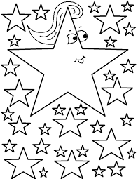 7 best images of large stars and moon coloring pages printable