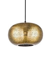 Hanging Light Fixtures by Golden Metal Round Shade Hole Pendant Lighting Hanging Fixture