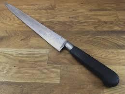 antique kitchen knives sabatier la trompette carbon steel chef carving knife razor