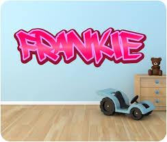Girls Graffiti Bedroom Personalised Graffiti Name Wall Sticker Mural Art Boys Girls