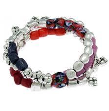 murano beads bracelet images Ciclon bisuteria barcelona silver stretch bracelet multicolor jpg
