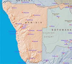 africa map kalahari desert namibia geography