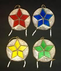filipino star christmas tree ornaments set of 4 global