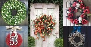 21 artificial wreath ideas for stunning front door