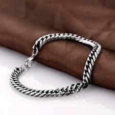 link men silver bracelet images Motorcycle chain link bracelet mens silver cuban link chain jpg