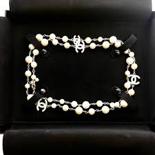 brand new pearl necklace images Chanel with receipt full set classic 42 quot 5 cc pearl necklace jpg