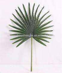 wholesale artificial fan palm tree leaf pe cloth fabric leaf buy