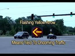 A Flashing Yellow Signal Light Means What Is A Flashing Yellow Arrow Youtube