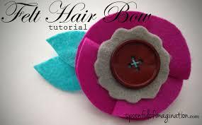 felt hair diy felt hair bow spoonful of imagination