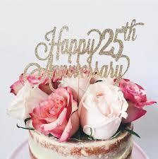 glitter cake topper anniversary cake topper happy anniversary cake topper glitter