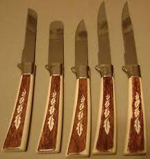 sheffield kitchen knives vintage regent sheffield stainless knives set leaf design on