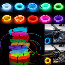 Battery Powered Led Lights Outdoor by Tsleen 8pcs Outdoor Led Strip 2m 3m 5m Flexible Neon Light El Wire