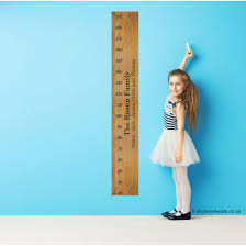personalised child s bedroom wooden ruler style height chart wall personalised child s bedroom wooden ruler style height chart wall sticker