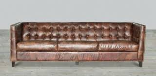 Distressed Leather Sofa by Leather Sofa Aspen Leather Sofa With Nailhead Trim Cream Leather