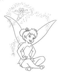 tinkerbell peter coloring pages embroidery