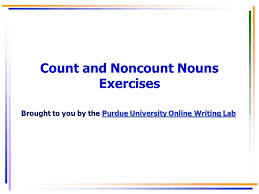 Exercises Count And Non Count Nouns Count And Non Count Nouns With Articles And Adjectives Ppt