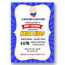 superman baby shower baby shower invitation superman supergirl inspired