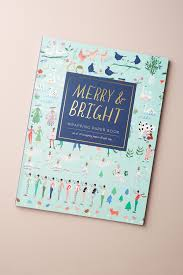 merry bright wrapping paper book anthropologie