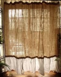 Shabby Chic Curtains Cottage 83 One Panel Shabby Cottage Chic Curtain Cotton Burlap Ruffles