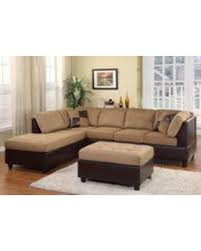 Reversible Sectional Sofa Don U0027t Miss This Deal Homelegance Comfort Living Brown Rhino