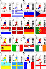Flags Countries Europe Soccer Championship Players And Flags Of Countries
