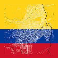 Studio City Map Cali Street Map Cali Colombia Road Map Art On Flag Digital Art