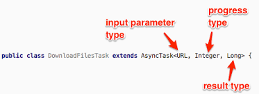 asynctask android exle my android asynctask docs and exles parameters callbacks
