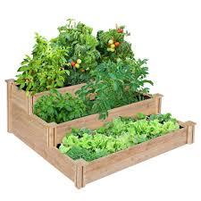 greenes fence 4 ft x 4 ft x 21 in 3 tiered cedar raised garden