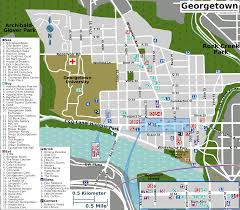 Washington Dc Attractions Map File Georgetown Map Png Wikimedia Commons
