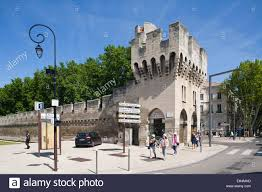 chambre du commerce avignon ancient walls avignon provence europe stock photo