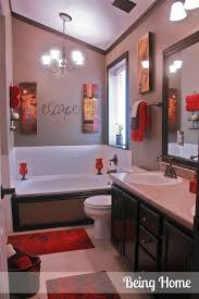Cheap Bathroom Decor Classy 60 Bathroom Decorating Ideas In Red Decorating Inspiration