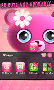 themes for android phones cute pink go launcher theme free apk android app android freeware