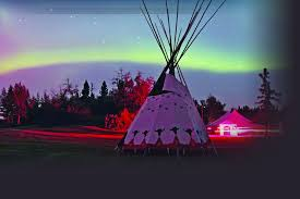 Calgary Zoo Lights Coupons by Canada U0027s Northern Lights Shining Over A Native American Teepee In
