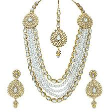 gold plated necklace images Traditional kundan polki gold plated necklace shekhawati general jpg