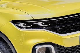 yellow volkswagen convertible volkswagen t cross breeze crosses a polo with a range rover evoque