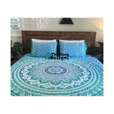 Duvet Covers Brown And Blue Mandala Duvets Thenanodesigns