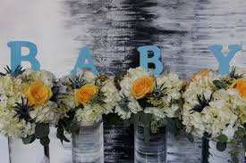 boy baby shower u2014 gold leaf floral