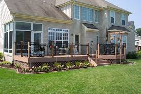 home decor stores st louis mo curry custom decks 26 this split level deck was designed to give