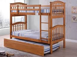Maple Bunk Beds And Trundle Madrid Wooden Bunk Bed With Guest - Joseph maple bunk bed