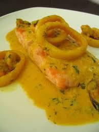 cuisiner un filet de saumon filet de saumon sauce aux fruits de mer la cuisine de