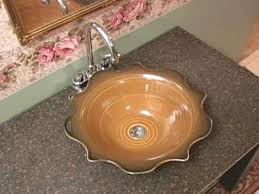 Bathroom Sink Decorating Ideas How To Make A Ceramic Sink Hgtv