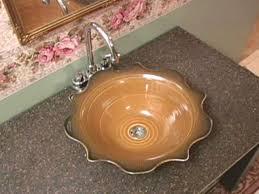 how to make a ceramic sink hgtv