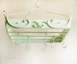 vintage refurbished shabby chic french style pale green hanging