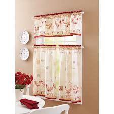 farmhouse style curtains country swag kitchen valances for windows