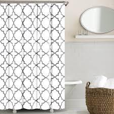 amazon com echelon home quatrefoil shower curtain zinc home