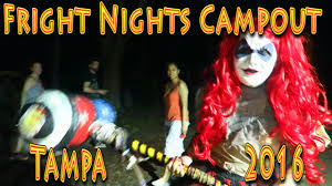 tampa halloween horror nights fright nights campout 2016 tampa 06 03 2016 youtube