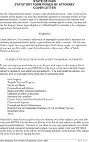 Military General Power Of Attorney Form by Ohio Power Of Attorney Form Download Free U0026 Premium Templates