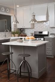 wainscoting backsplash kitchen small kitchen design grey upholstered bar stools metal bar