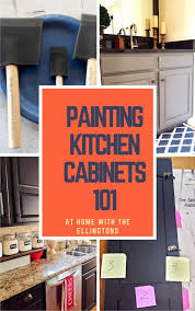 How To Paint Raised Panel Kitchen Cabinet Doors At Home With The - Painted kitchen cabinet doors